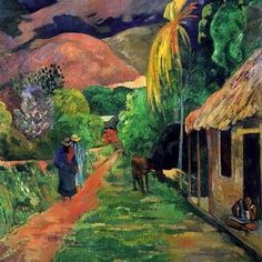 Gauguin, Street in Tahiti, 1891
