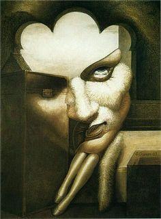 Surrealism and Visionary art: Octavio Ocampo Image Illusion, Illusion Pictures, Illusion Art, Optical Illusion Paintings, Cool Optical Illusions, Optical Illusion Images, Art Visionnaire, Visionary Art, Oeuvre D'art