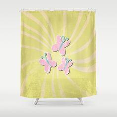 my grunge little pony.. fluttershy Shower Curtain by studiomarshallarts - $68.00