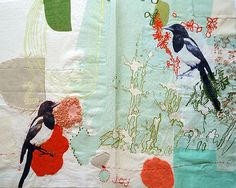 Maxine Sutton - embroidered and printed textile