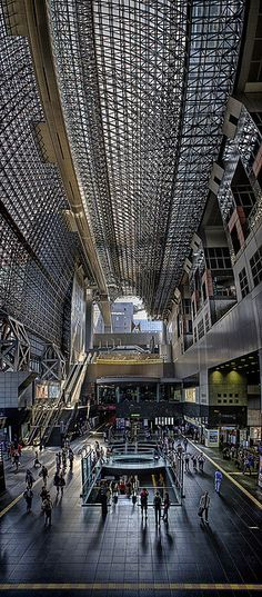 The atrium / grand hall at Kyoto Station is awe inspiring! #Japan