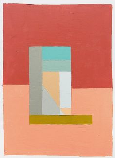 """""""Tower II"""" Oil on paper painting by Brooklyn-based artist Kristin Texeira. #UpriseArt"""
