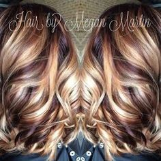 15 pretty hairstyles for medium length hair page 3 of 5 shades blonde with cherry and chocolate lowlights my fall hair color pmusecretfo Choice Image