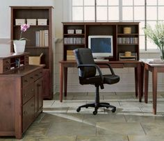 Astonishing Modern Office Design Ideas: Attractive Small Home Office Design L Shaped Desk Wooden Materials With Pc Unit And Elegant Black Task Chairs Also Office Cabinets Furniture ~ workdon.com Home Office Design Inspiration