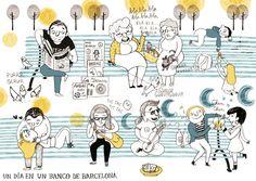 ¿Qué están haciendo? (Ilustración de Marta Altés - www.martaaltes.com)