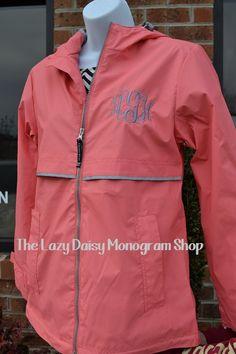 Monogram Rain Jacket- 8 colors available