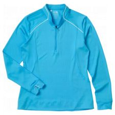 Great Value unlined Adidas Womens ClimaLite Warm Half Zip Piped Jacket takes advantage of Climalite Warm technology to provide extra warmth on the cooler days!