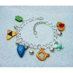 Zelda Ocarina of Time,bracelets,pulsera,fimo,polymer clay,handmade,hecho a mano,link,navi,video games,video juegos,nintendo,