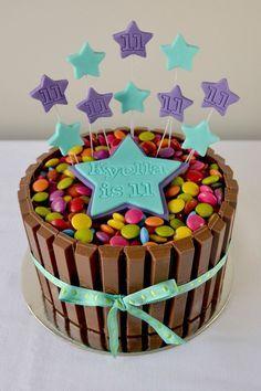 kitkat smarties taart - Google zoeken