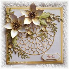 Cheery Lynn Designs dies used for this card, tutorial on how to make Lily, can be found on my blog :-)