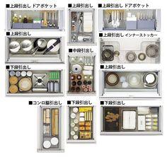 Pin by あーき on 家事 in 2019 Kitchen Drawers, Kitchen Storage, Muji Storage, Small Room Organization, Minimalist Apartment, Good House, Small Space Living, Kitchen Hacks, Kitchen Interior