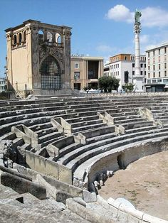 ~Lecce - Roman Amphitheatre, Province of Lecce , Puglia region Italy~ ~Evidence of the Roman rule here~ Best Places In Italy, Best Of Italy, Cool Places To Visit, Places To Go, Travel Around The World, Around The Worlds, Hotel Rome, Lecce Italy, Voyage Rome