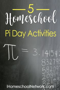 5 Homeschool Pi Day Activities. Fun activities that help kids learn while having fun!