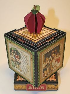 An Abc Primer stacking photo cubes project by Laura Denison from Following the Paper Trail.