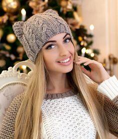 Зимняя женская шапка-кошка «Кэти стронг» ✔ оптом от производителя