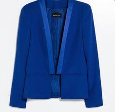 Cobalt blauwe blazer