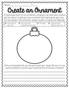 This FREEBE is a great writing activity to engage your students during the holiday season. Use as a center or whole group activity to help students practice descriptive and persuasive writing. Enjoy! :)