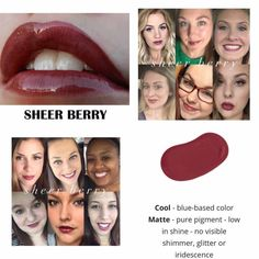 Kiss-proof, waterproof, smudge-proof lipstick that last up to 18 hours. Vegan and hydrating. Order here. Lipsense Pinks, Lipsense Lip Colors, Lipstick Colors, Smudge Proof Lipstick, Color Collage, Dark Lips, Beautiful Lips, Pink Nails, Travel Size Products