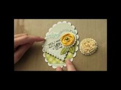 card making video: Rolled Ribbon Flower