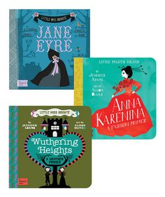 BabyLit Jane Eyre, Wuthering Heights & Anna Karenina Board Book Set | zulily
