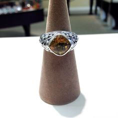 Sterling silver citrine ring #ring #jewelry #sterling #silver