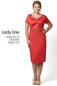 Костюмы и платья для полных модниц белорусской компании lady Line. Весна 2015