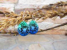 Polymer earrings - ornament in blend