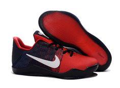 pretty nice 2b00d 92d97 Cheap Nike Kobe 11 Shoes Red Dark Blue