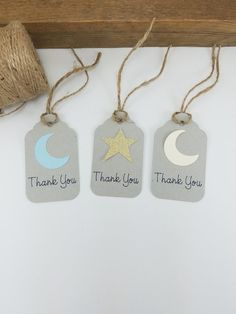 Moon and Star Baby Shower - Thank You Tags 12 CT - Boy Baby Shower Thank You Tags - Twinkle Twinkle Little Star Baby Shower - Favor Tags Baby Shower Thank You, Baby Shower Favors, Baby Shower Themes, Baby Boy Shower, Shower Ideas, Baby Baby, Star Baby Showers, Baby Shower Winter, Thank You Tags