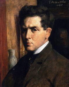 J. Alden Weir (American 1852–1919) [Impressionism, The Ten] Self-portrait, 1886.