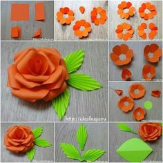 How to make a paper flower