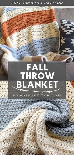 How to crochet a beginner Fall Throw Blanket Looking for that perfect cozy handmade throw blanket this fall? This beginner fall crocheted blanket pattern is. Crochet Throw Pattern, Easy Crochet Blanket, Crochet For Beginners Blanket, Afghan Crochet Patterns, Crochet Patterns For Beginners, Crochet Throws, Beginner Crochet Blankets, Simple Crochet Patterns, Crochet Gratis