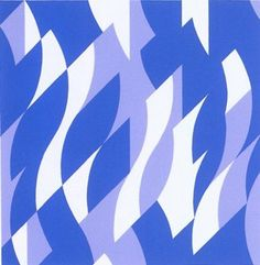 Bridget Riley - Two Blues, Screenprint  39x38 cms 2003