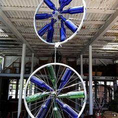 Hanging Bottle and Bike Rims