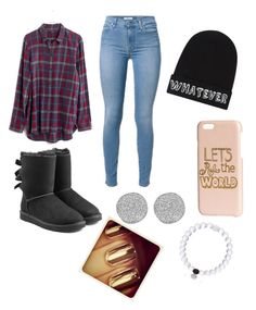 """""""Untitled #139"""" by glo-pinkshot on Polyvore featuring UGG Australia, Madewell, Local Heroes, H&M, Everest and Karen Kane"""