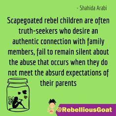 Quote 326 - Scapegoated rebel children