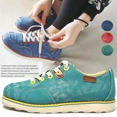 Buy 'Reneve – Contrast-Trim Lace-Up Sneakers ' with Free International Shipping at YesStyle.com. Browse and shop for thousands of Asian fashion items from South Korea and more!