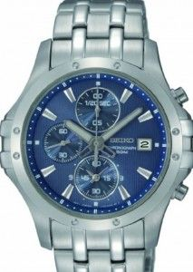 Seiko Men's SNDC97 Stainless Steel Analog with Blue Dial Watch   Citizen Watches For You And Her