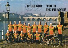 TI Raleigh - McGregor. Ploegfotokaart uit 1978. VdVelden,Lubberding,Karstens,Raas,Kneteman,Kuijper
