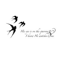 I designed this tattoo for the neck or shoulders. If God cares for the birds how much more will He care for his children. Based on the scripture of Matthew 6:24-45 {Designed by Megan Liscomb}