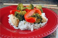 Chicken and broccoli stir fry in the crockpot; definitely going to try this.