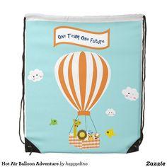Hot Air Balloon Adventure Drawstring Bag