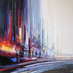 Skyline Painting, Sailboat Painting, Pop Art, Street Art, Grand Format, Amazing Paintings, Objet D'art, Sculpture, Oeuvre D'art