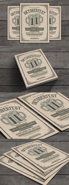 Oktoberfest Party, Flyer Design Templates, Flyer Template, Psd Templates, Find Fonts, Club Design, Party Flyer, Color Change, Banner