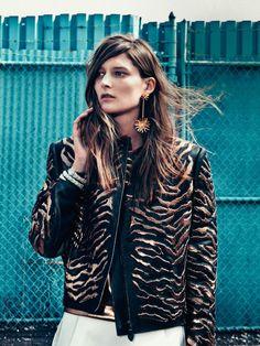 tiger print jacket. #fashion