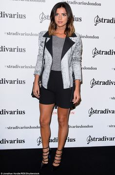 Monochrome marvel: LucyMecklenburgh, 25,flashed her toned and tanned pins in a pair of elegant black shorts on Thursday night at the Stradivarius party in London