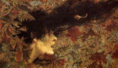 Lévy-Dhurmer. La bourrasque. Pastel, 1896.