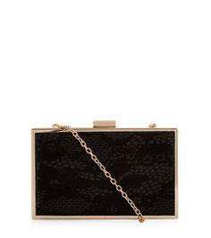 Black Lace Box Clutch