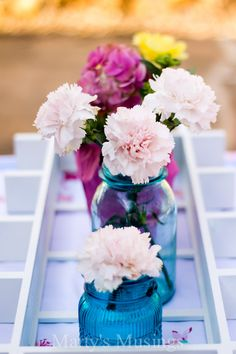 Love the color palette for this table.  Recreate it with the limited edition blue Ball Jars!