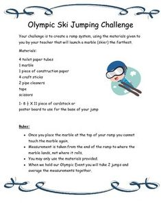 Fun Olympic Activities - Olympic Ski Jumping Challenge